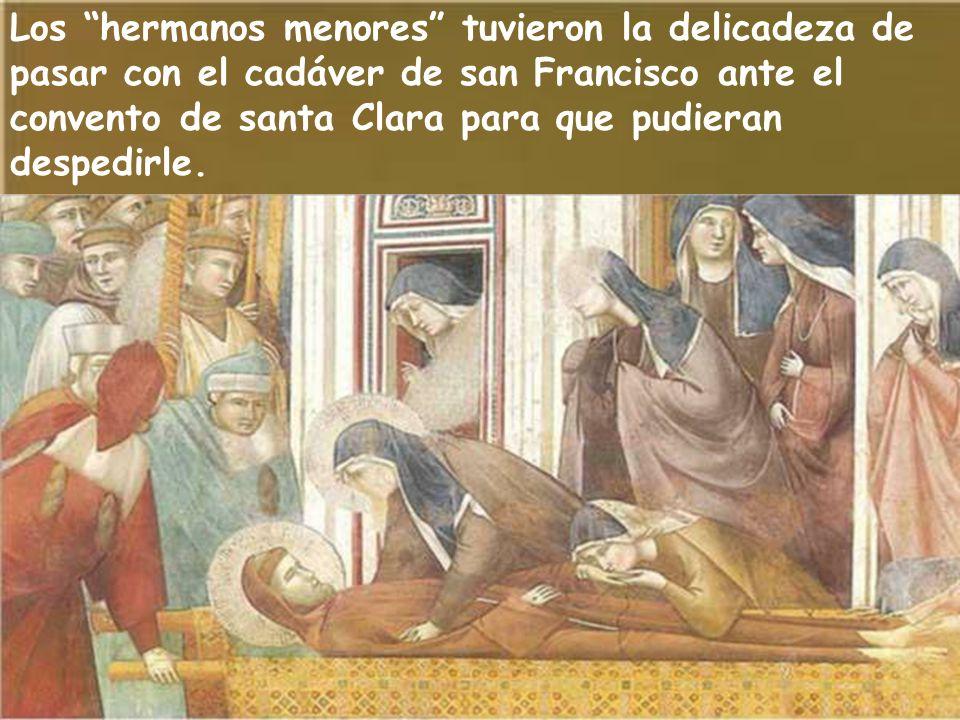 Día triste para santa Clara fue cuando se enteró de la muerte de su padre y maestro, san Francisco.