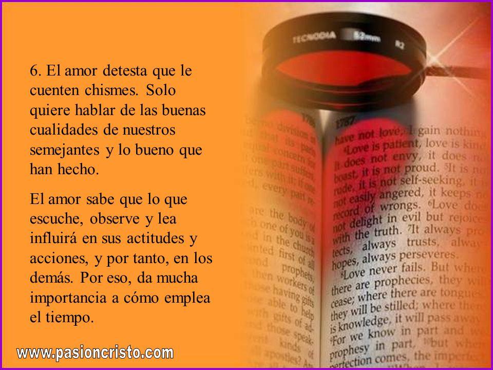 5. El amor no es tosco ni grosero, y no refunfuña, ni trata de hacer sentir culpables a los demás, ni los presiona para conseguir lo que quiere. El am