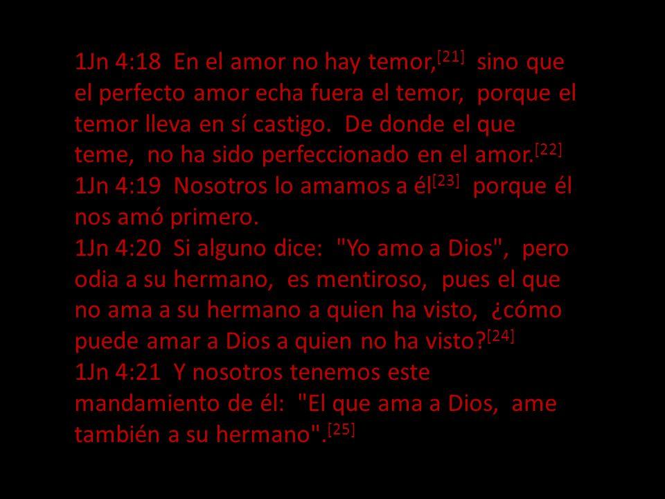 El que no ama(con este amor) no ha conocido a Dios, porque Dios es amor. 1Jn 4:9 En esto se mostró el amor de Dios para con nosotros: [12] en que Dios