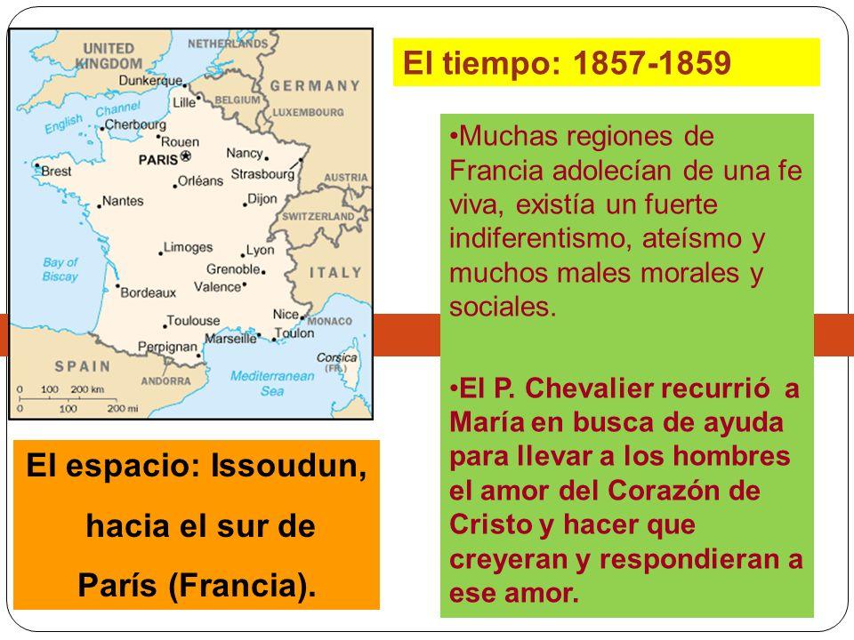 Muchas regiones de Francia adolecían de una fe viva, existía un fuerte indiferentismo, ateísmo y muchos males morales y sociales. El P. Chevalier recu