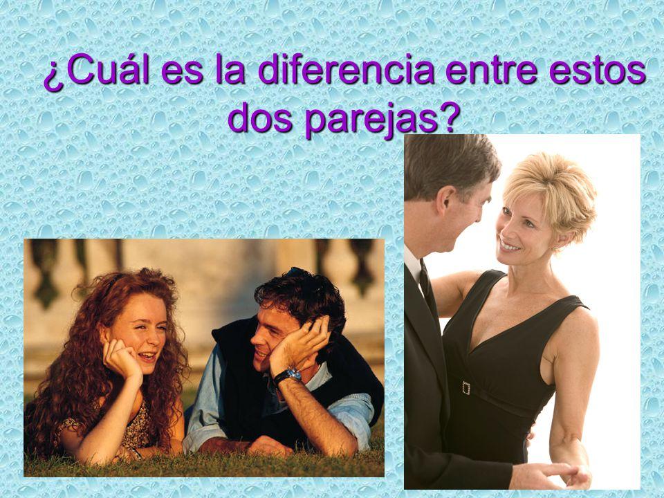 ¿Cuál es la diferencia entre estos dos parejas?