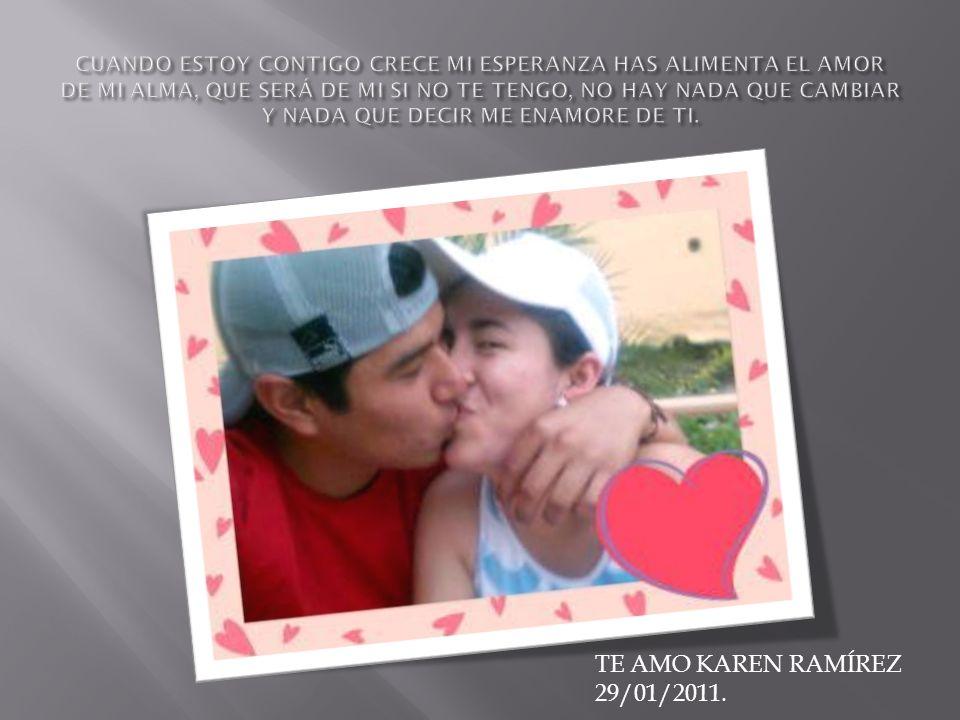 TE AMO KAREN RAMÍREZ 29/01/2011.
