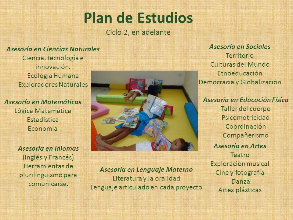 Plan de Estudios Ciclo 2, en adelante Asesoría en Ciencias Naturales Ciencia, tecnología e innovación. Ecología Humana Exploradores Naturales Asesoría