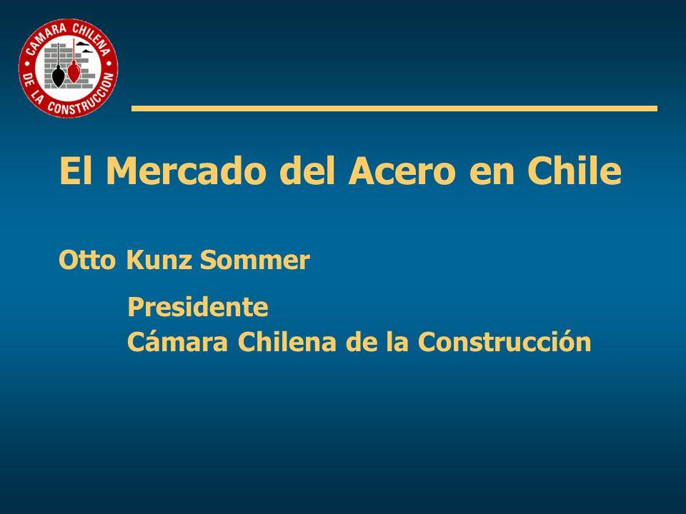 El Mercado del Acero en Chile Otto Kunz Sommer Presidente Cámara Chilena de la Construcción