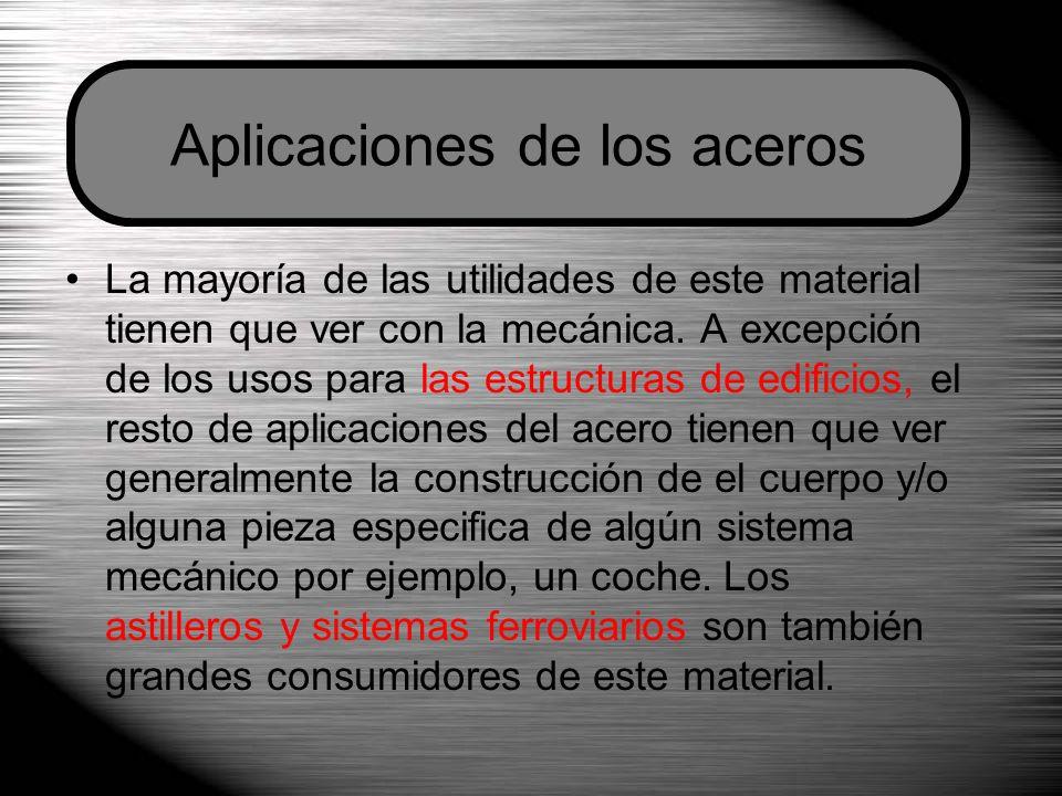 La mayoría de las utilidades de este material tienen que ver con la mecánica. A excepción de los usos para las estructuras de edificios, el resto de a