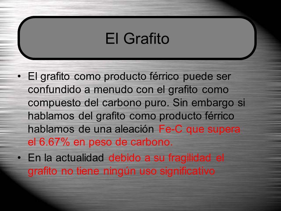 El grafito como producto férrico puede ser confundido a menudo con el grafito como compuesto del carbono puro.