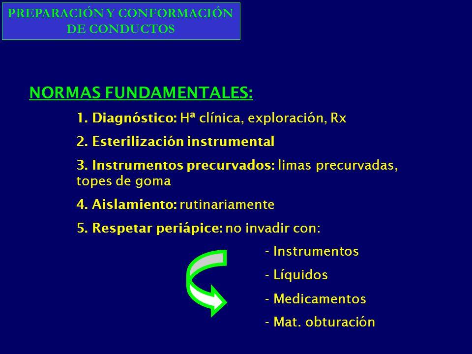 PREPARACIÓN Y CONFORMACIÓN DE CONDUCTOS NORMAS FUNDAMENTALES: 1.