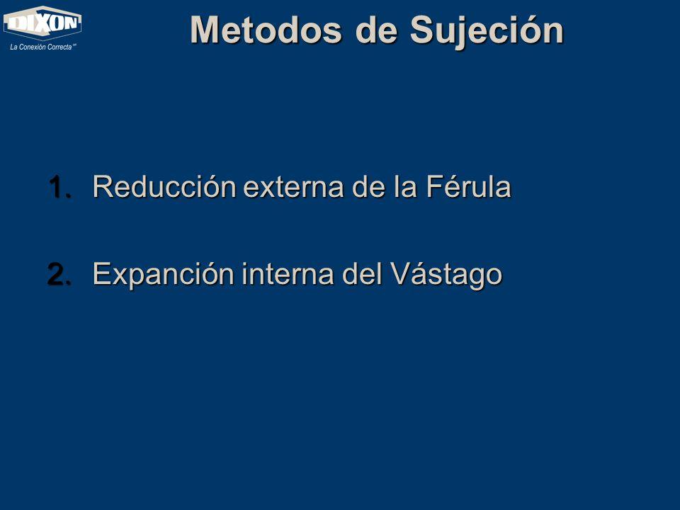 Metodos de Sujeción 1.Reducción externa de la Férula 2.Expanción interna del Vástago