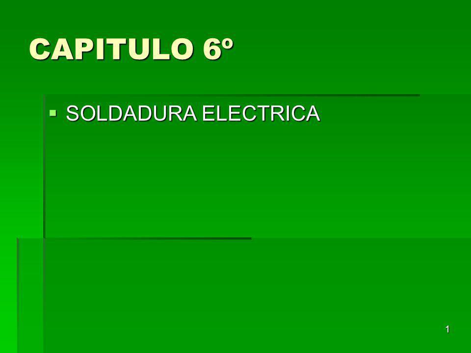 1 CAPITULO 6º SOLDADURA ELECTRICA SOLDADURA ELECTRICA