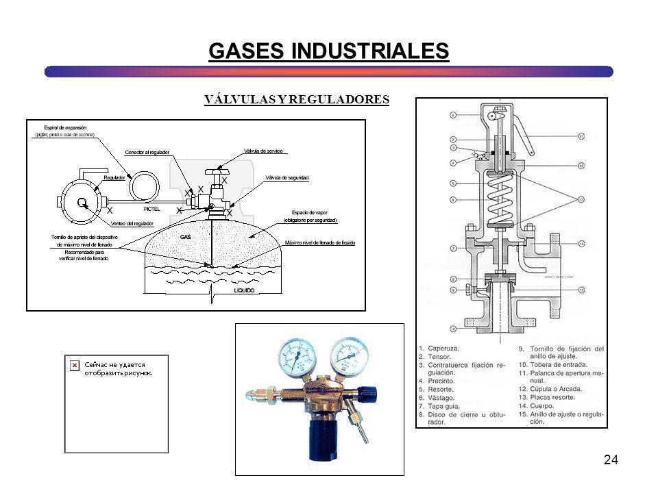 24 GASES INDUSTRIALES VÁLVULAS Y REGULADORES