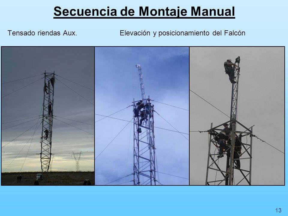 Secuencia de Montaje Manual Tensado riendas Aux.Elevación y posicionamiento del Falcón 13