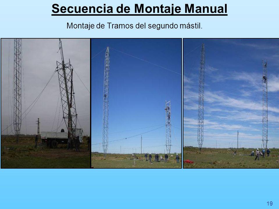 Secuencia de Montaje Manual Montaje del último Tramo del segundo mástil. 20