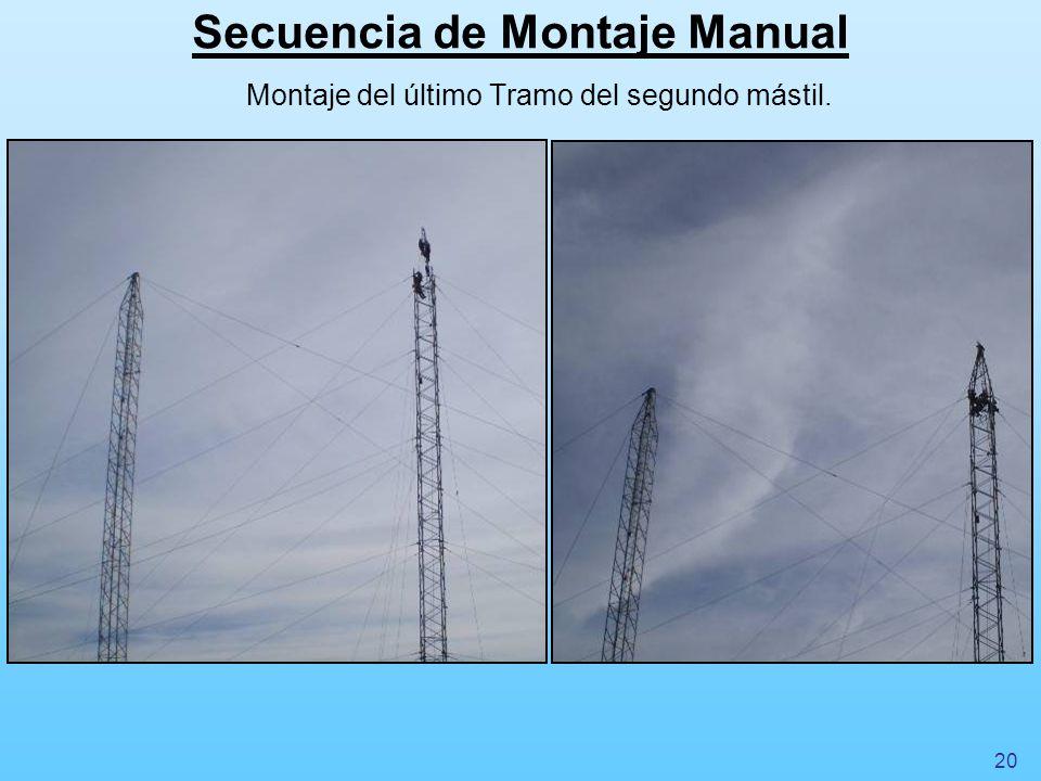 Secuencia de Montaje Manual Vinculación de los Cables Cross Rope Auxiliar y Principal.