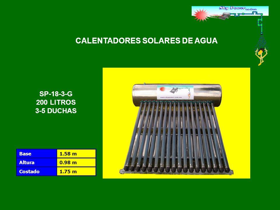 Número de tubos18 tubos.MaterialCristal de borosilicato Longitud / Diámetro1.8 m / 58 mm.