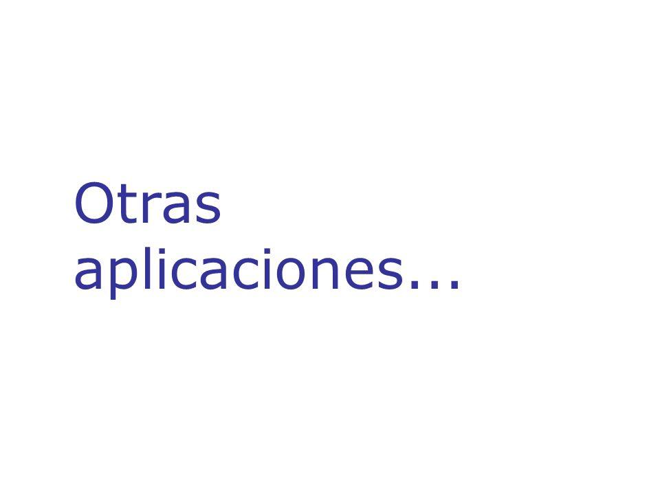 Otras aplicaciones...