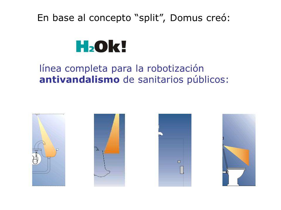 línea completa para la robotización antivandalismo de sanitarios públicos: Domus creó: En base al concepto split,