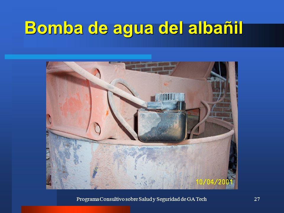 Programa Consultivo sobre Salud y Seguridad de GA Tech27 Bomba de agua del albañil