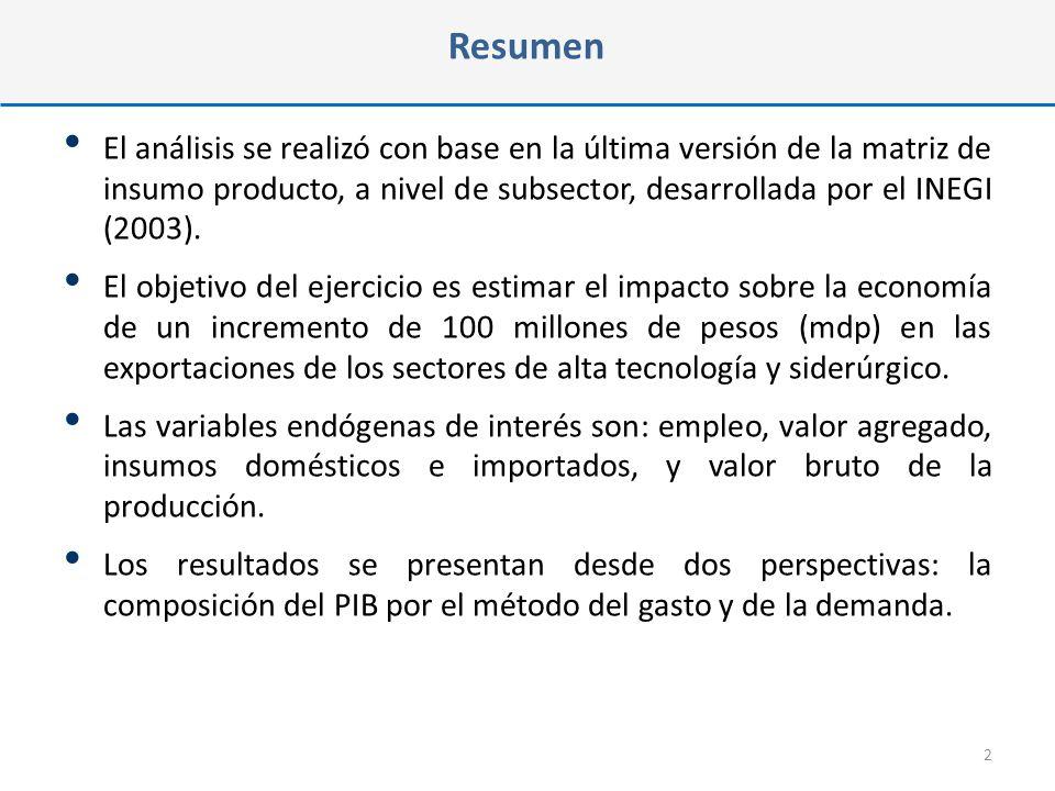 La matriz de insumo producto de una economía muestra las interrelaciones de oferta y demanda que se dan en una economía.