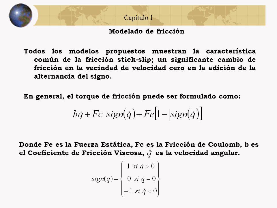 Capítulo 1 Modelado de fricción Modelos comúnmente usados para la fricción stick-slip o fricción seca. (a) Modelo Stiction/Coulomb. (b) Modelo Stictio