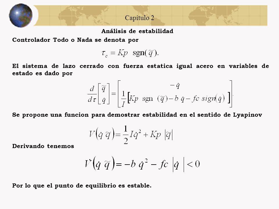 Capítulo 2 Análisis de estabilidad Los controladores a simular e implementar son los siguientes: Controlador con Estructura Fraccional Controlador Fun