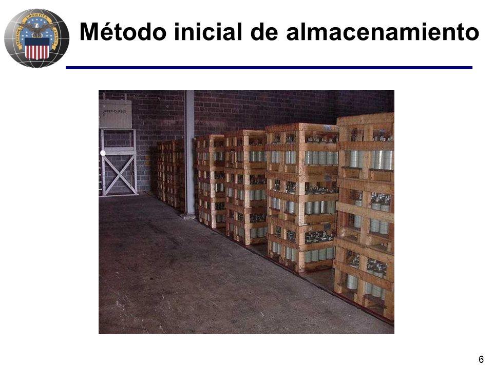 6 Método inicial de almacenamiento