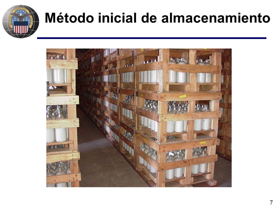 8 Iniciativas seguras para mercurio Mercury Over-packing Project - 2002 Sobre – empaquetaron 28.660 cilindros Costo = $20 por cilindro versus $100 por re-empaquetar Inspecciones de cilindros/limpieza Tambores de acero recubiertos con pintura epoxy Protección en capas Relleno absorbente Forro de plástico Estopa de goma de media pulgada Anillo sellador a presión a prueba de aire y líquido