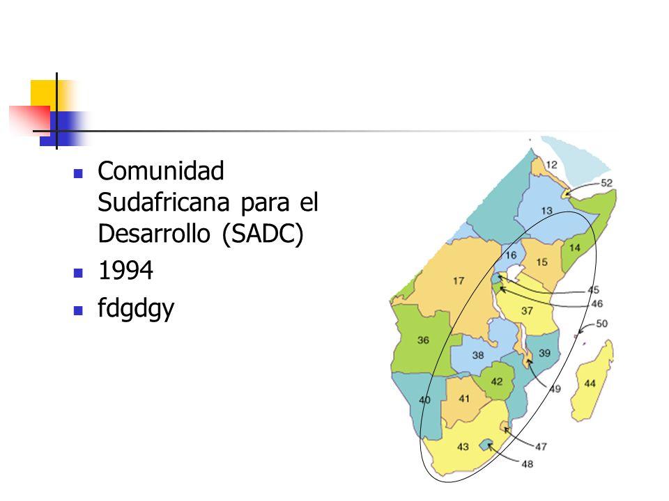 Comunidad Sudafricana para el Desarrollo (SADC) 1994 fdgdgy