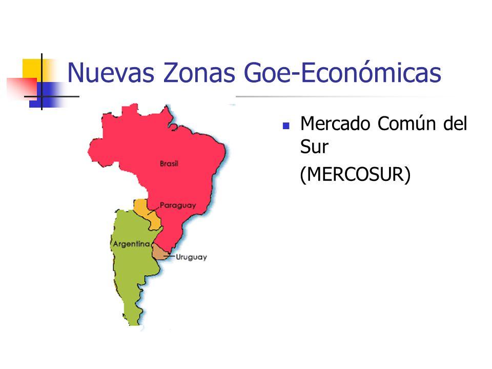 Nuevas Zonas Goe-Económicas Mercado Común del Sur (MERCOSUR)