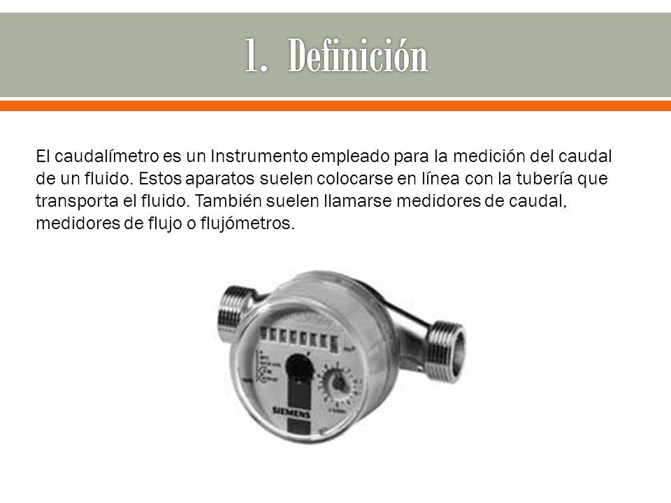 El caudalímetro es un Instrumento empleado para la medición del caudal de un fluido. Estos aparatos suelen colocarse en línea con la tubería que trans