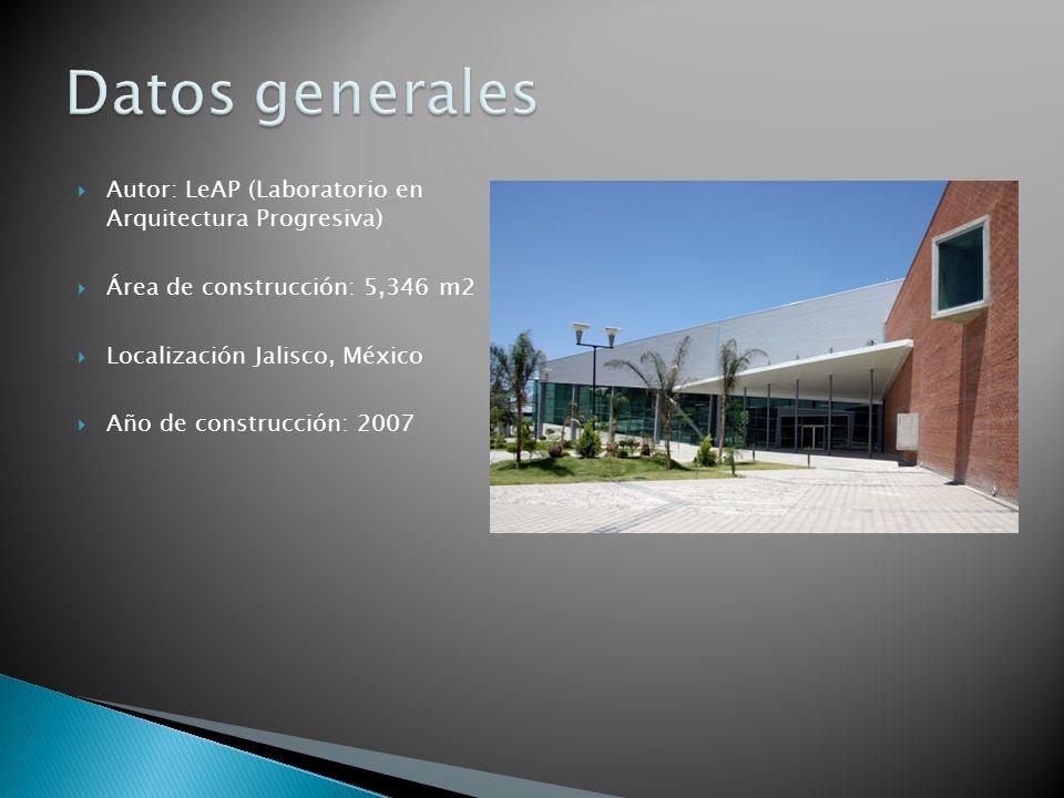 Autor: LeAP (Laboratorio en Arquitectura Progresiva) Área de construcción: 5,346 m2 Localización Jalisco, México Año de construcción: 2007