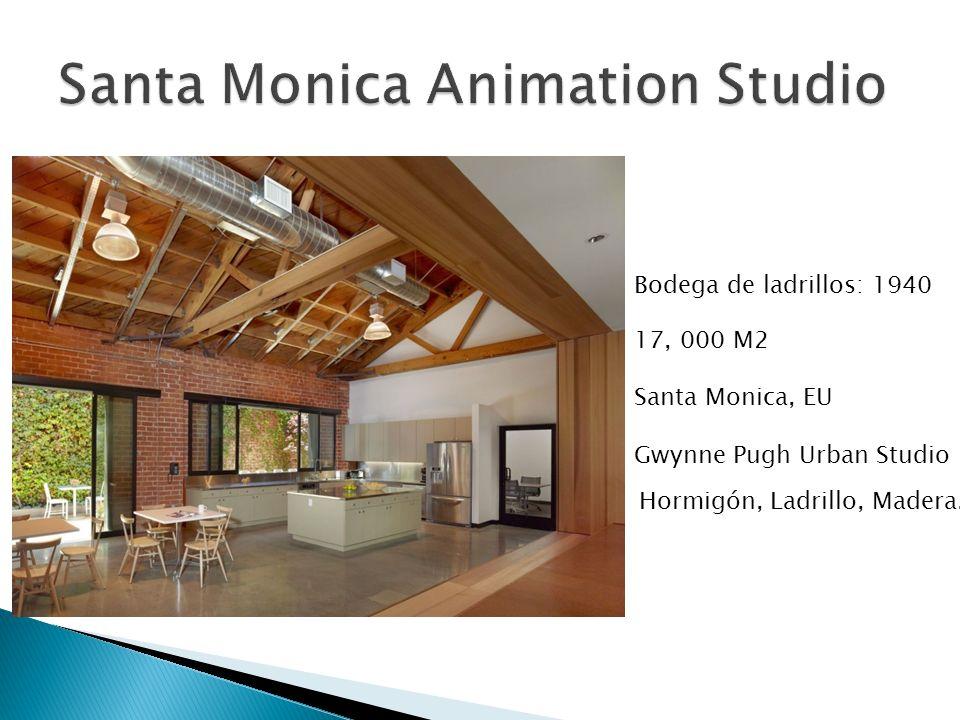 17, 000 M2 Santa Monica, EU Gwynne Pugh Urban Studio Bodega de ladrillos: 1940 Hormigón, Ladrillo, Madera.