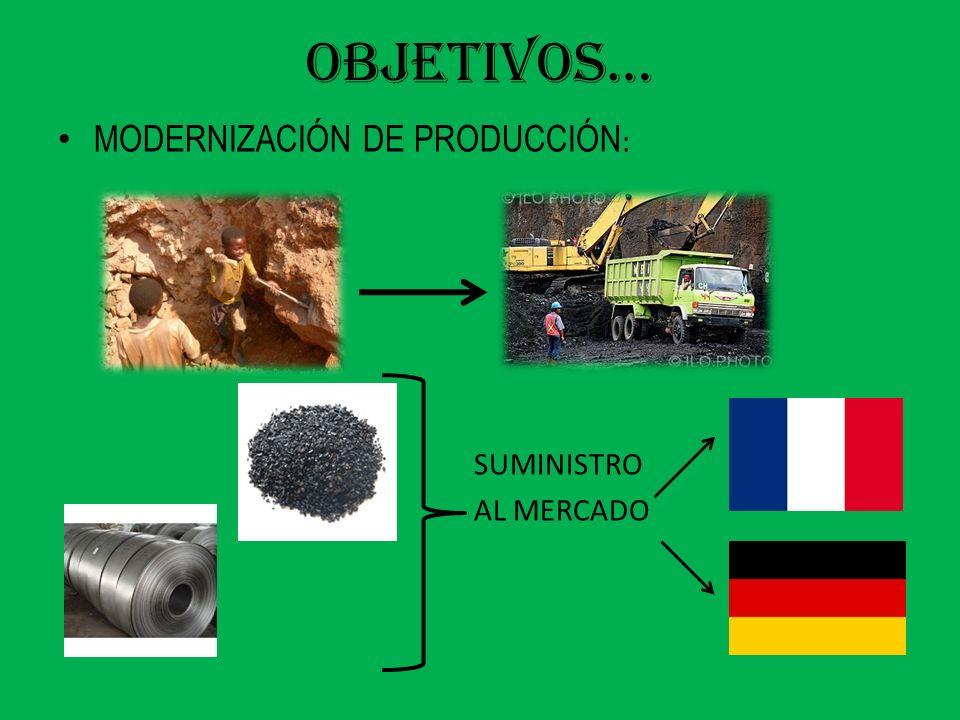 OBJETIVOS… MODERNIZACIÓN DE PRODUCCIÓN : SUMINISTRO AL MERCADO