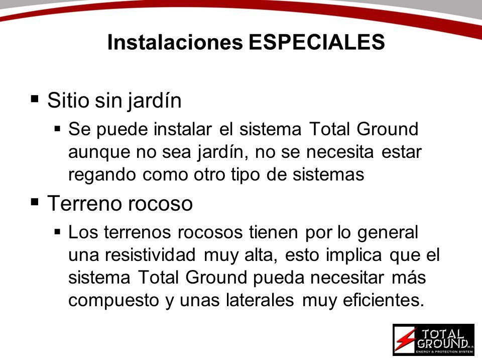 Instalaciones ESPECIALES Sitio sin jardín Se puede instalar el sistema Total Ground aunque no sea jardín, no se necesita estar regando como otro tipo