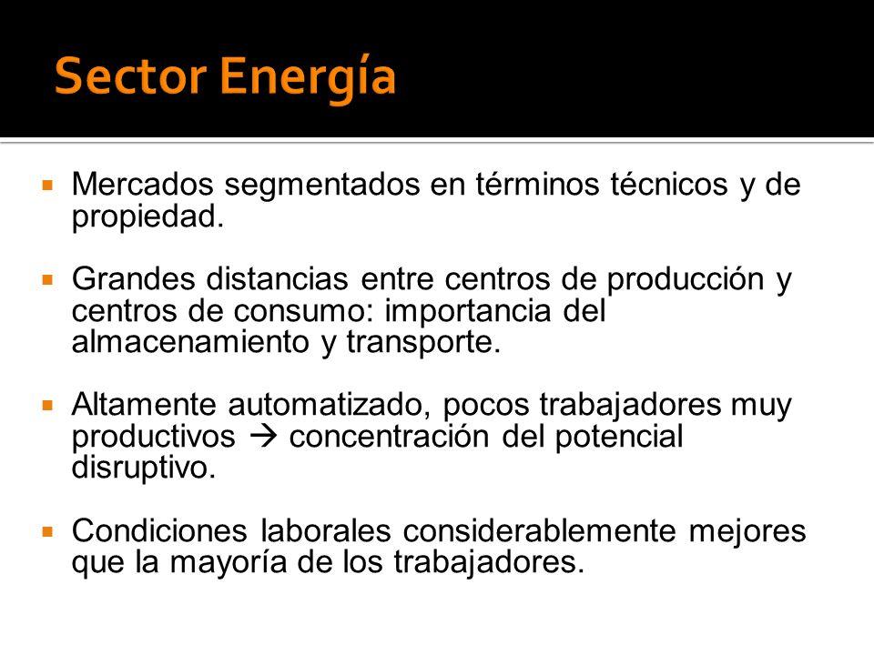 Mercados segmentados en términos técnicos y de propiedad.