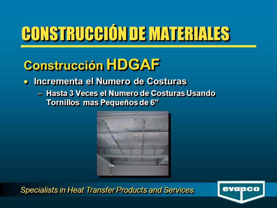 Specialists in Heat Transfer Products and Services Incrementa el Numero de Costuras Incrementa el Numero de Costuras –Hasta 3 Veces el Numero de Costu