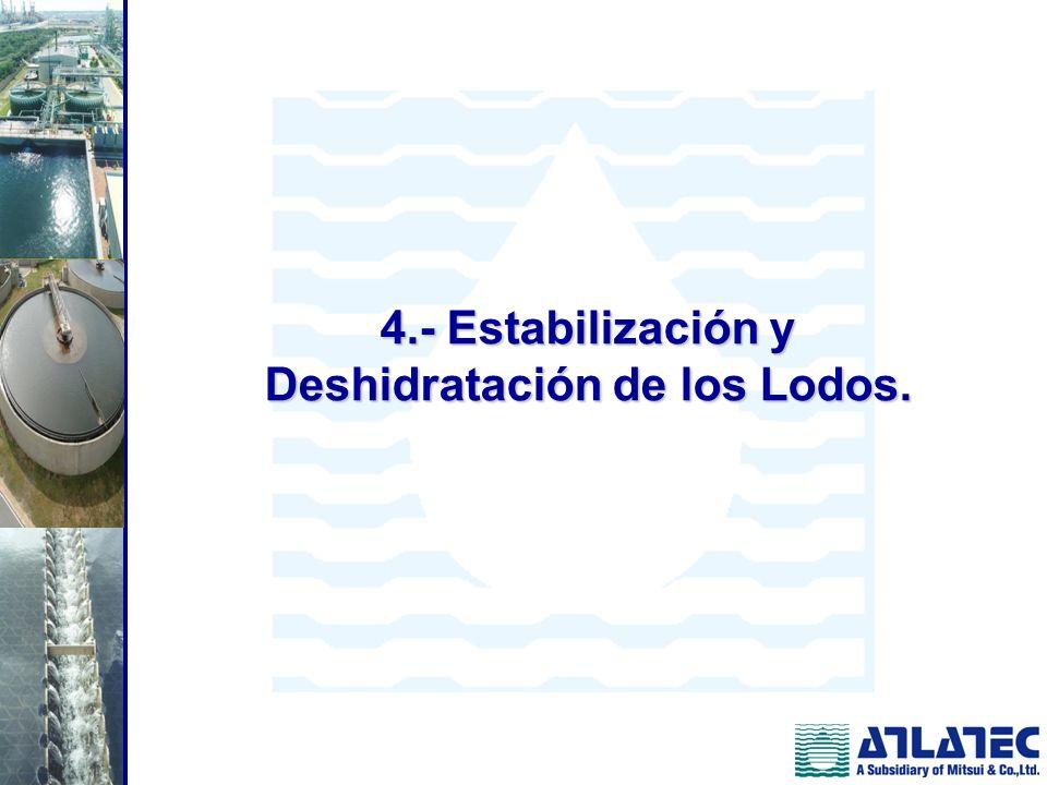 4.- Estabilización y Deshidratación de los Lodos.