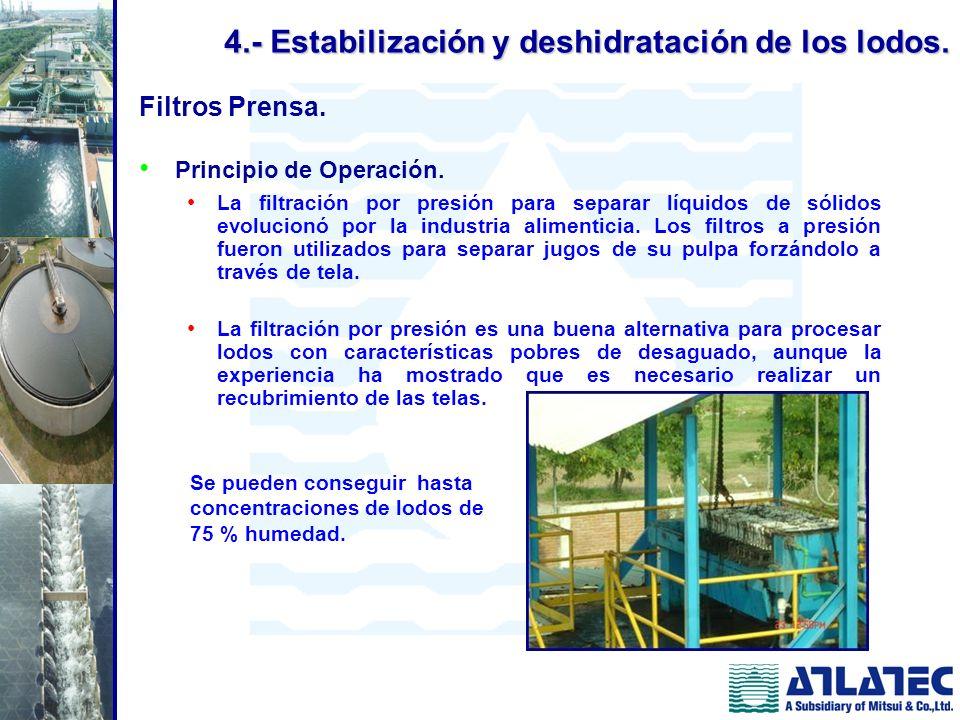 Filtros Prensa. Principio de Operación. La filtración por presión para separar líquidos de sólidos evolucionó por la industria alimenticia. Los filtro