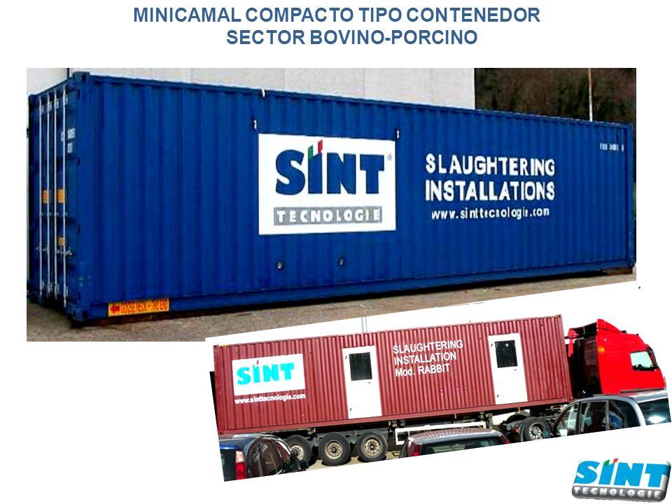 MINICAMAL COMPACTO TIPO CONTENEDOR SECTOR BOVINO-PORCINO