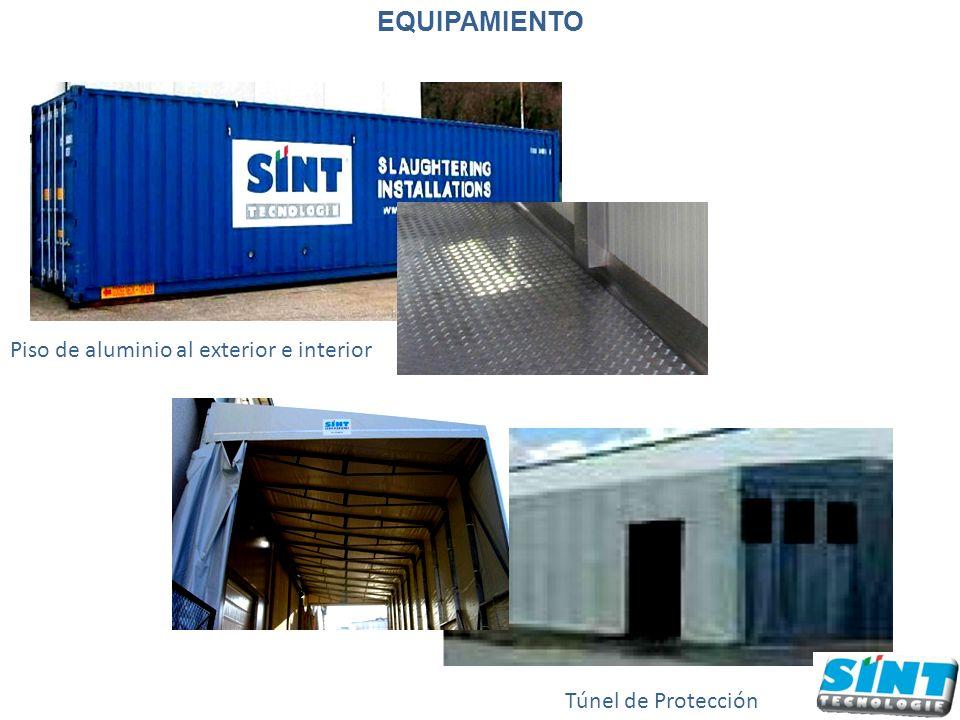 Túnel de Protección Piso de aluminio al exterior e interior EQUIPAMIENTO
