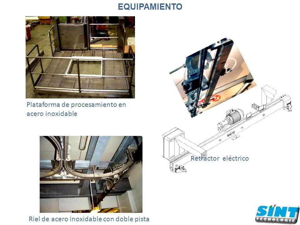Plataforma de procesamiento en acero inoxidable Retractor eléctrico Riel de acero inoxidable con doble pista EQUIPAMIENTO
