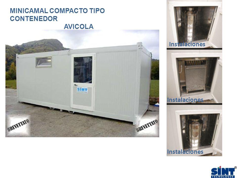 Instalaciones MINICAMAL COMPACTO TIPO CONTENEDOR AVICOLA