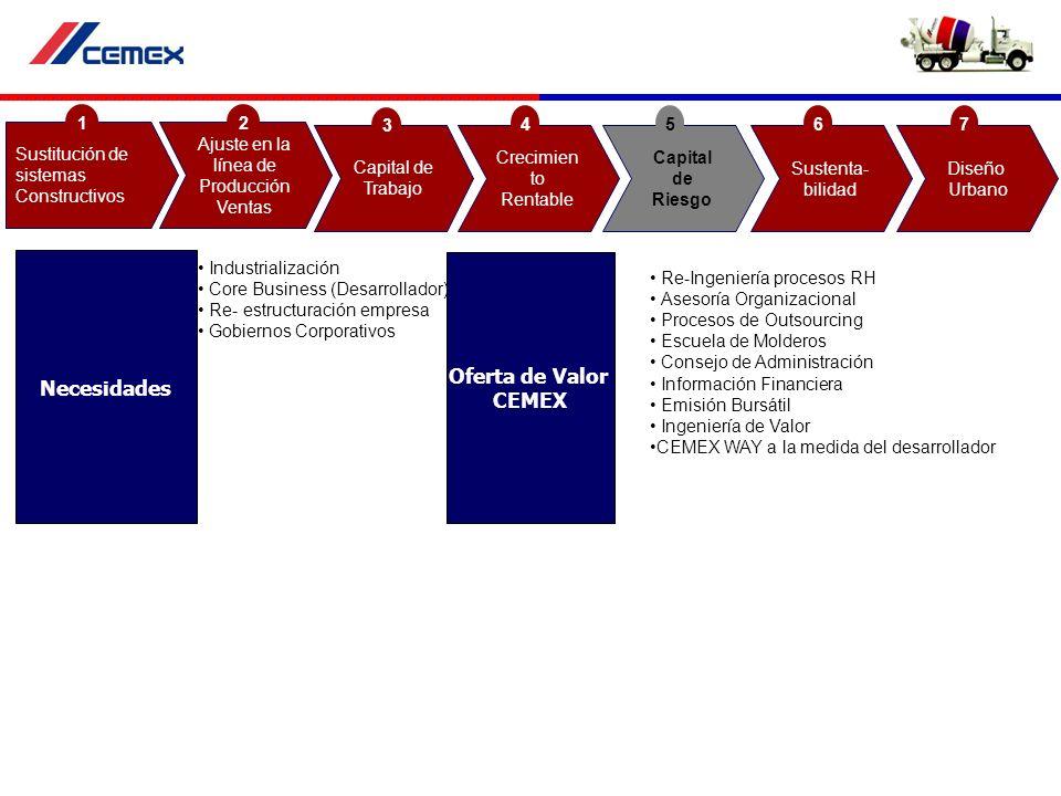 Industrialización Core Business (Desarrollador) Re- estructuración empresa Gobiernos Corporativos Re-Ingeniería procesos RH Asesoría Organizacional Pr