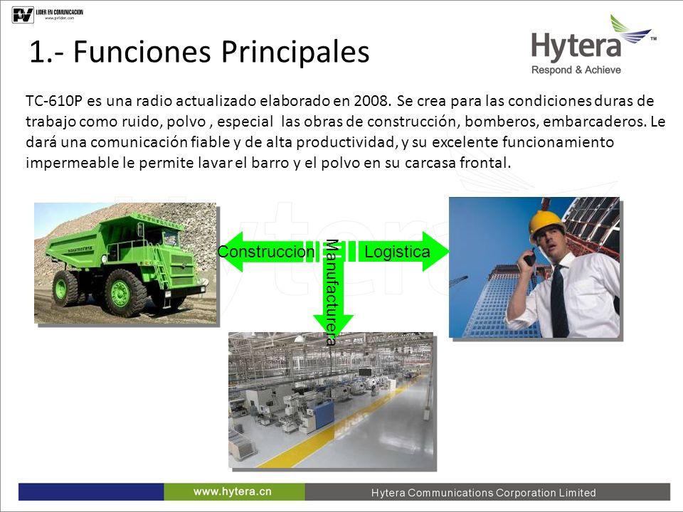 1.Main Functions Amplia potencia de transmision para cobertura amplia.