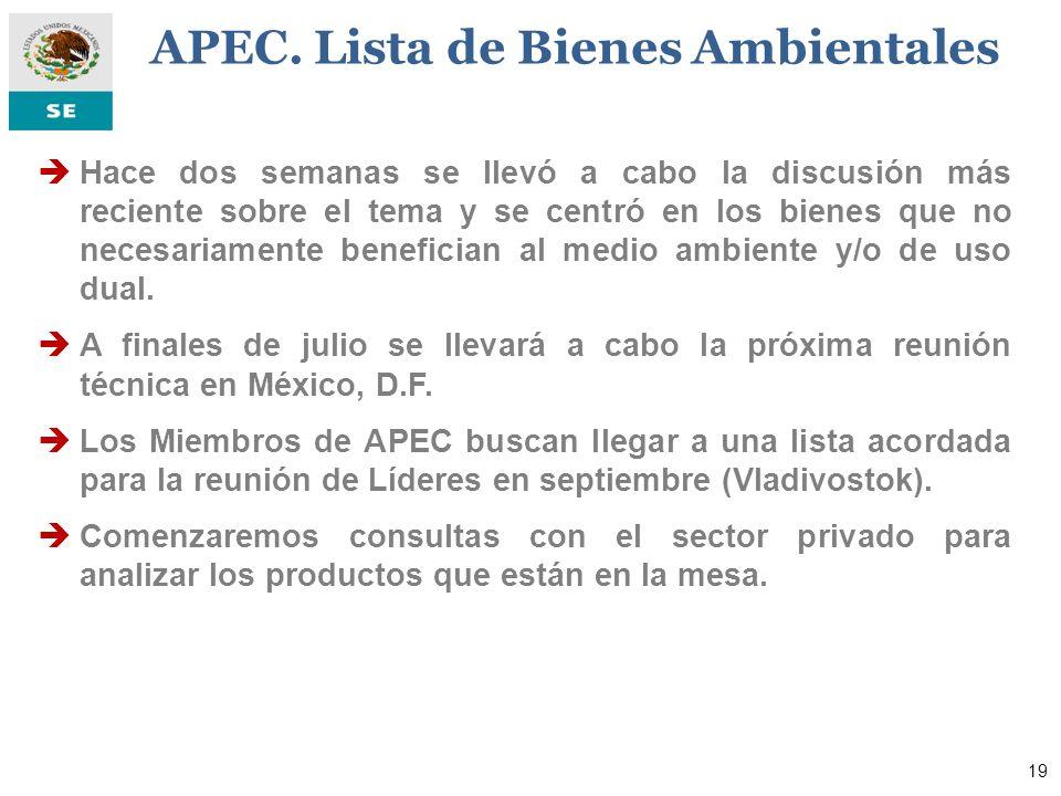 20 La SE mantendrá consultas con los sectores productivos del país para definir una agenda de negociaciones exitosa en beneficio de nuestros productores y de la economía mexicana.