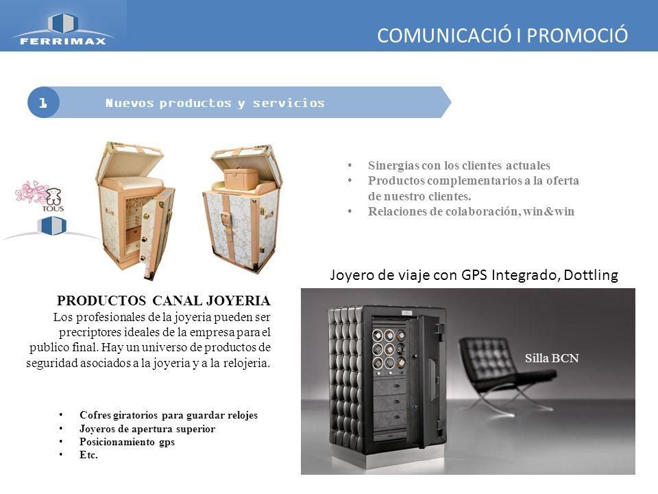 COMUNICACIÓ I PROMOCIÓ 1 Nuevos productos y servicios PRODUCTOS CANAL JOYERIA Los profesionales de la joyeria pueden ser precriptores ideales de la em