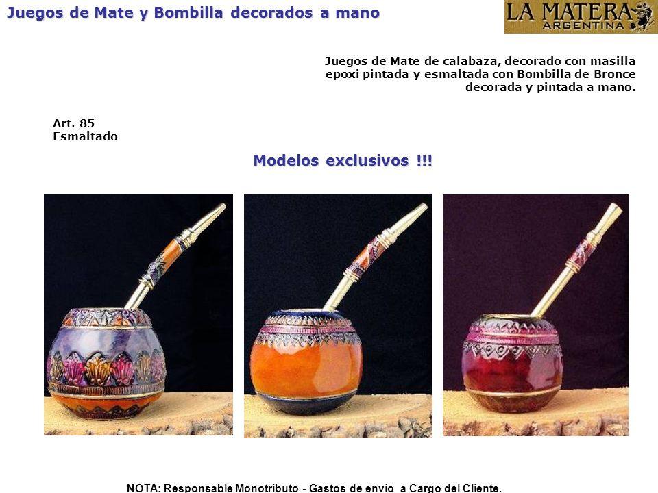 Modelos exclusivos !!! Art. 85 Esmaltado Juegos de Mate y Bombilla decorados a mano Juegos de Mate de calabaza, decorado con masilla epoxi pintada y e