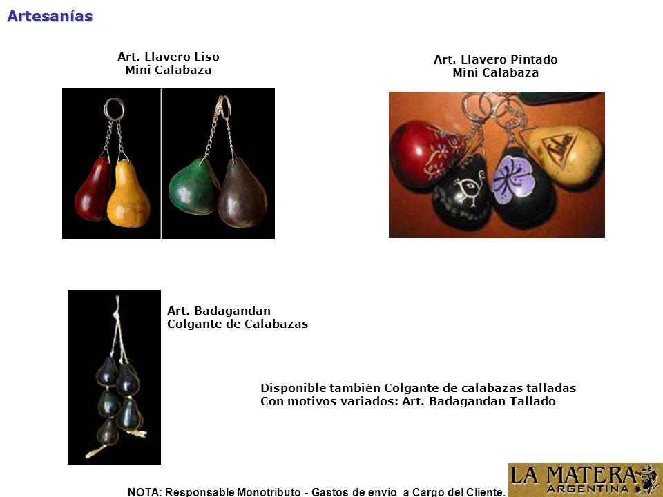 Artesanías Art.Llavero Liso Mini Calabaza Art. Llavero Pintado Mini Calabaza Art.