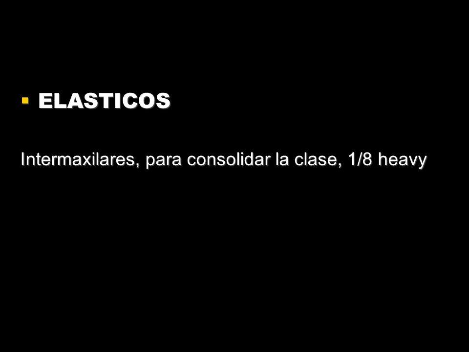 ELASTICOS ELASTICOS Intermaxilares, para consolidar la clase, 1/8 heavy