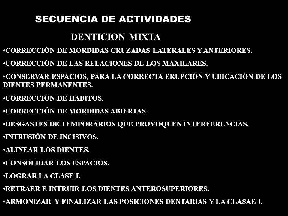ETAPA I ETAPAS DE LA MECÁNICA DE TRATAMIENTO DE ROTH ALAMBRES 1- ARCOS INICIALES DE ALTA FLEXIBILIDAD Y BAJA CARGA DE DEFLEXIÓN ( TRENZADOS Y DE NÍQUEL TITANIO.014 ).
