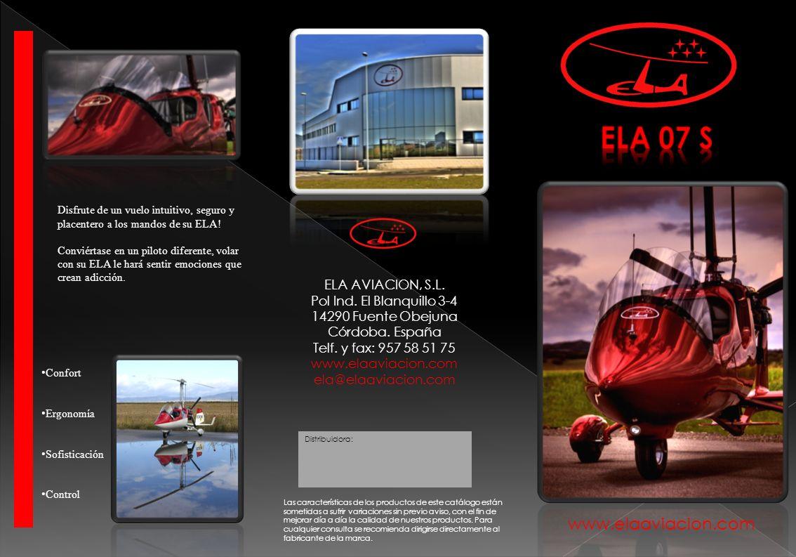 www.elaaviacion.com Distribuidora: Las características de los productos de este catálogo están sometidas a sufrir variaciones sin previo aviso, con el
